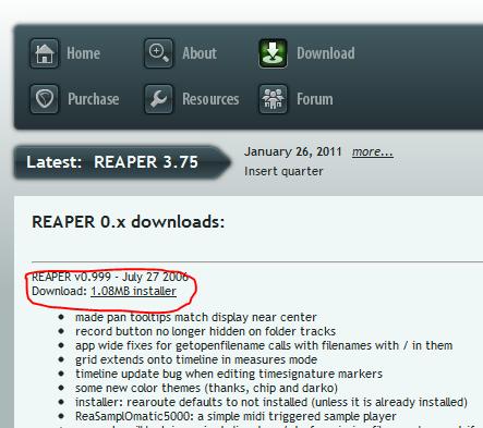 reaper v0 999 ダウンロード